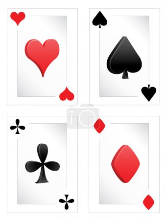Poker clubs diamonds hearts spades