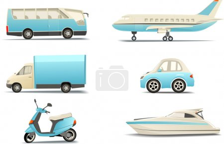 Illustration for Transportation icons - Royalty Free Image
