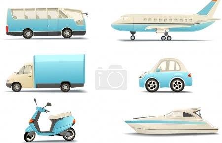 Illustration pour Icônes de transport - image libre de droit