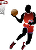 Basketball players Vector illustration
