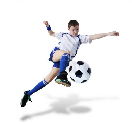 Boy with soccer ball, Footballer