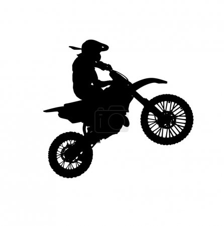 Silhouette of motorcycle