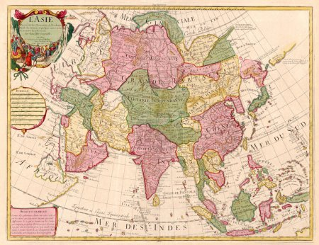 Photo pour Carte ancienne de l'Asie - image libre de droit