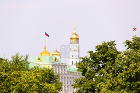 View at some of Moscow Kremlin's cathedrals: Iva