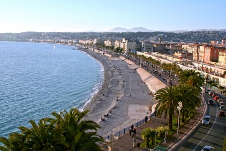 Photo for Beach and town, Nice, France - Royalty Free Image