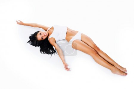 Photo for Perfect female body isolated on white background - Royalty Free Image