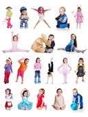 Set of cute little children