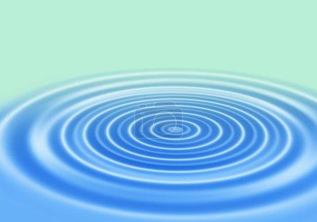 Photo pour Bleu dégradé fond abstrait avec des anneaux sur une surface d'eau - image libre de droit
