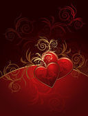 Floral valentines background