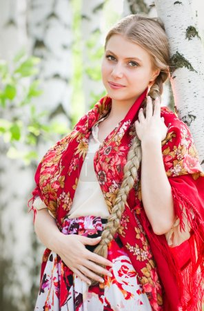 Photo for Russian beauty - the happy girl - Royalty Free Image