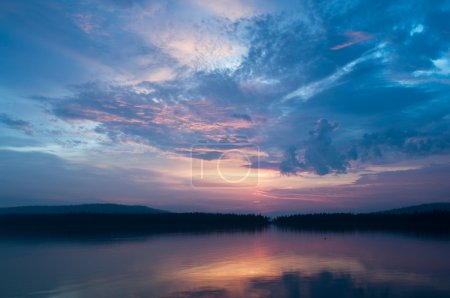 Photo for Evening sky over the lake in North Russia - Royalty Free Image