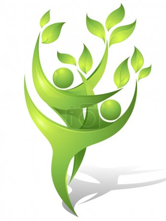 Illustration for Eco-icon with green - Royalty Free Image