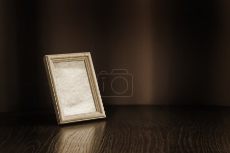 Photo-frame on table