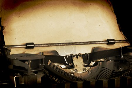 Photo for Retro typewriter with paper - Royalty Free Image