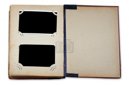 Vintage photo album with empty photos