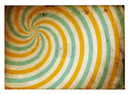 Photo pour Papier de fond grunge rétro isolé sur fond blanc avec chemin de coupure - image libre de droit