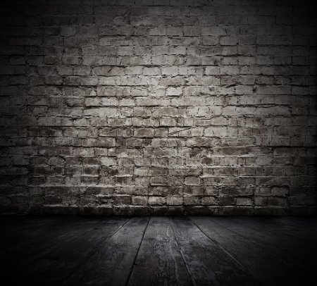 Photo for Old room with brick wall - Royalty Free Image