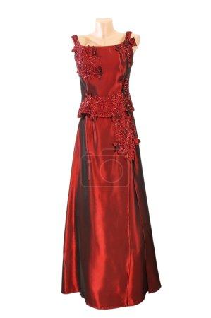 Photo pour La belle robe de soirée est isolée sur un fond blanc - image libre de droit