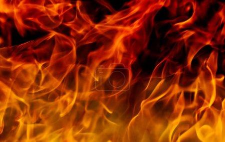Foto de Llamas calientes de fuego rojo y amarillo - Imagen libre de derechos