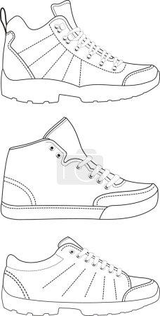 Sports footwear contours