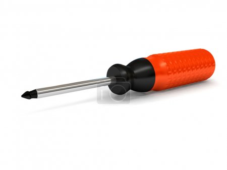 Screwdriver over white background