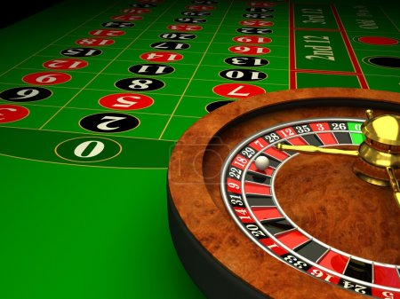 Casino Roulette. 3d rendered image...