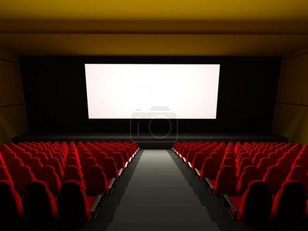 Photo pour Places de théâtre de film. rendu 3D de l'image - image libre de droit