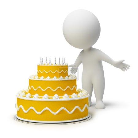 3d small - birthday cake