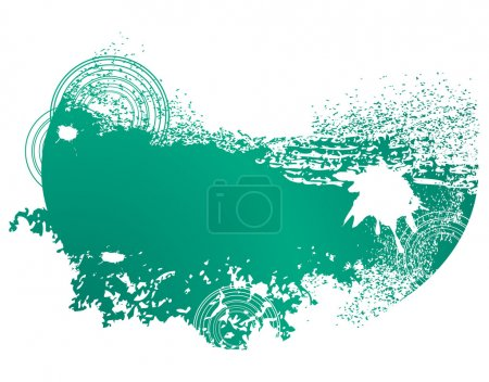 Grunge background in green colour
