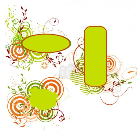 Illustration for Collection of spring banners. Vector illustration - Royalty Free Image