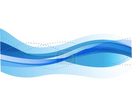 Illustration pour Fond abstrait avec des vagues. illustration vectorielle - image libre de droit