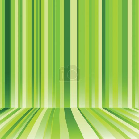 Illustration for Striped background in green colour. Vector illustration - Royalty Free Image