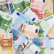 Pile of euro currency banknotes background...