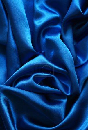 Smooth elegant dark blue silk
