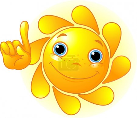 Cute Sun pointing up