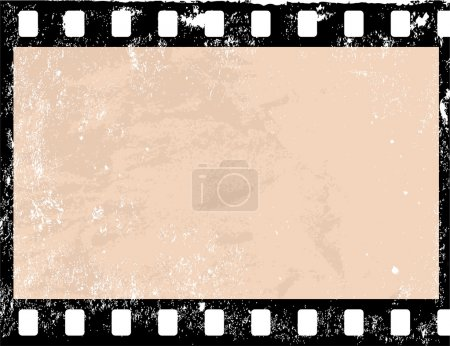 Photo for Illustration of a grunge filmstrip frame - Royalty Free Image