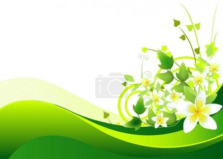 Illustration pour Illustration du fond printanier avec motif floral . - image libre de droit
