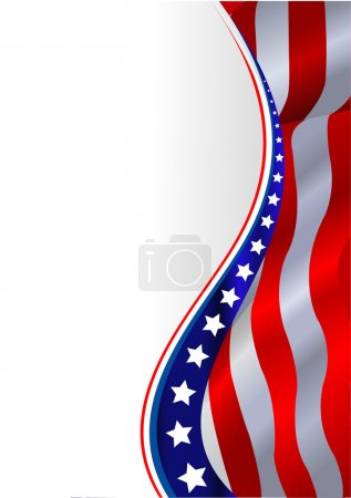 Illustration for An American flag vertical background - Royalty Free Image