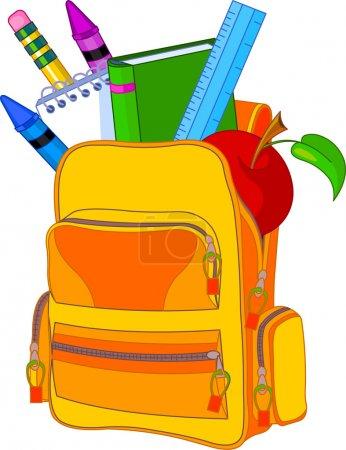 Photo pour Retour au concept d'image scolaire. Tous les objets sont regroupés et superposés pour faciliter l'édition . - image libre de droit