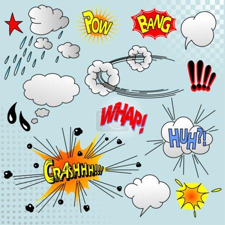 Illustration pour Illustration des éléments comiques pour votre conception - image libre de droit