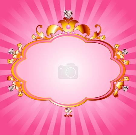 Photo for Lovely princess pink frame. Perfect for beautiful girls - Royalty Free Image