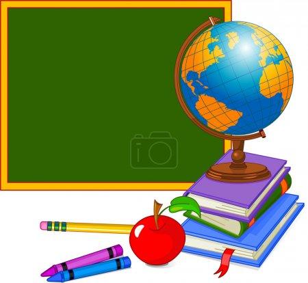 Illustration pour Retour à School Design avec globe - image libre de droit