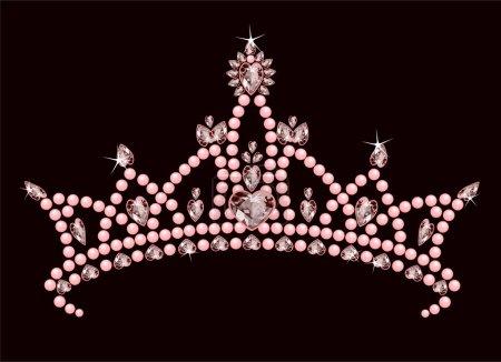 Illustration pour Belle couronne vraie princesse brillante - image libre de droit