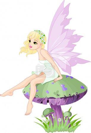 Fairy on the Mushroom