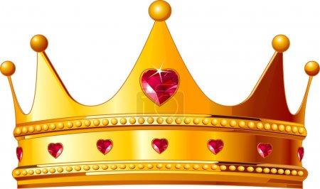 Illustration pour Belle illustration d'une couronne des rois d'or - image libre de droit