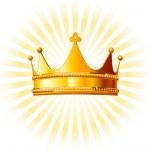 Beautiful shining golden crown on glowing backgrou...