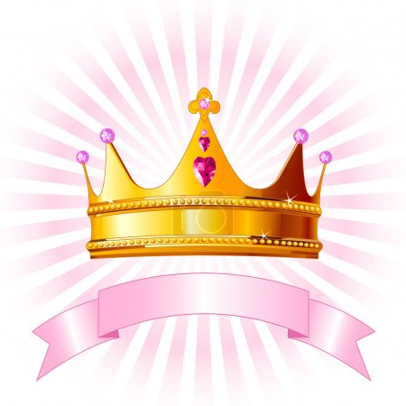 Photo for Beautiful background with crown for true princess - Royalty Free Image