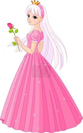Beautiful princess with rose