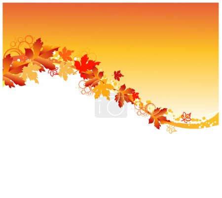 Illustration for Autumn frame - Royalty Free Image