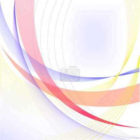 Abstract white background with blue and yellow lin...